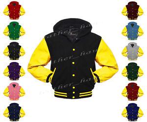Faux-leather-Sleeve-Letterman-College-Varsity-Wool-Jacket-Hoodie-YS-YS-YB-H-1