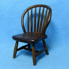 Dollhouse Miniature Kitchen / Dining Room Windsor Chair in Walnut ~ CLA07813