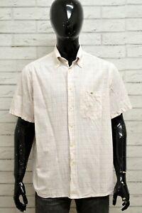 Camicia-LACOSTE-Uomo-Taglia-44-L-Maglia-Shirt-Man-Manica-Corta-Cotone-a-Quadri