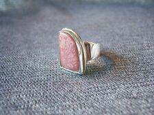 Sterling Silver 925 & Rhodochrosite Ring -  Size L 1/2