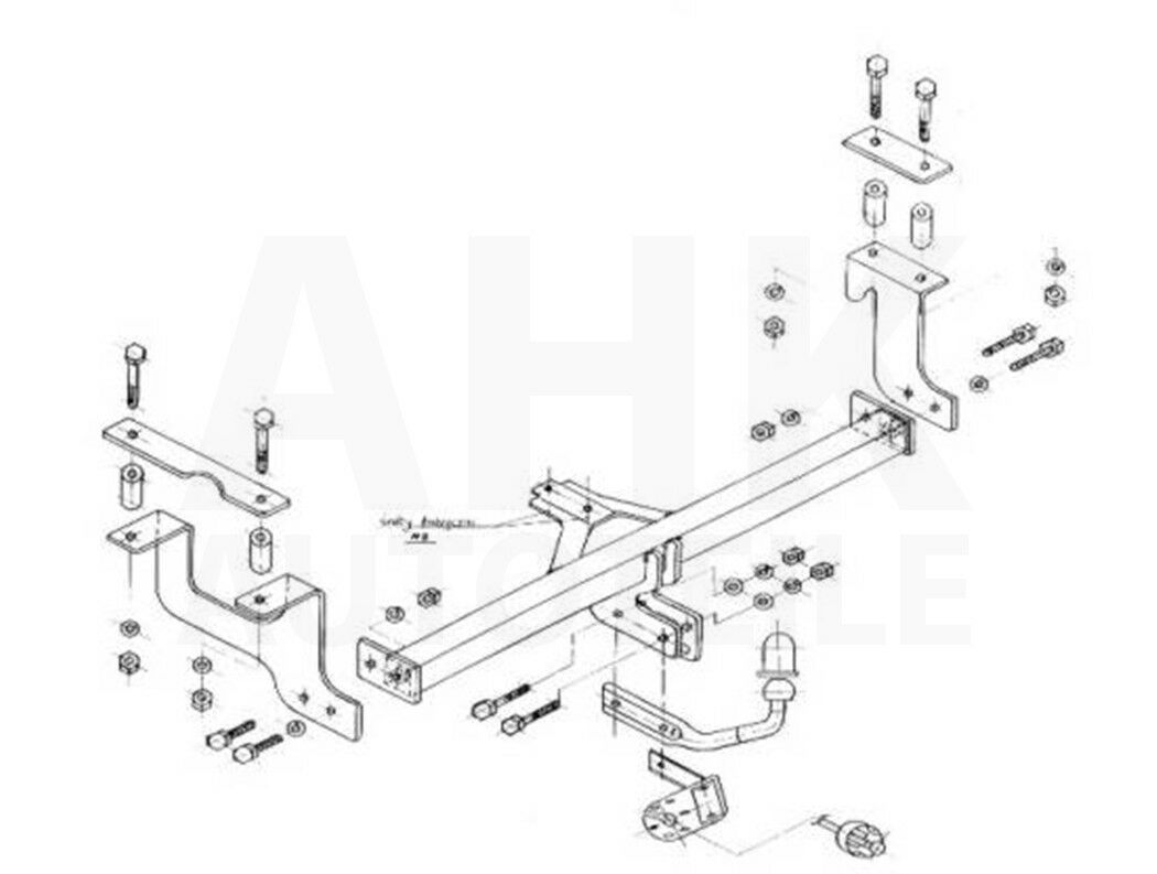 00-02 Attelage fixe+faisceau 7 broches Suzuki Wagon R