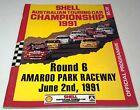 Jun 1991 AMAROO PARK ATCC Round 6 V8 Race Programme BROCK etc