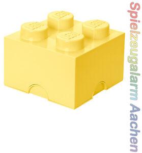 LEGO Storage Brick XL 4 COOL GELB Stein 2x2 Aufbewahrung Dose Box Kiste Yellow