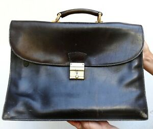 Bag Genuine Leather Men's Dark Brown Soft Used