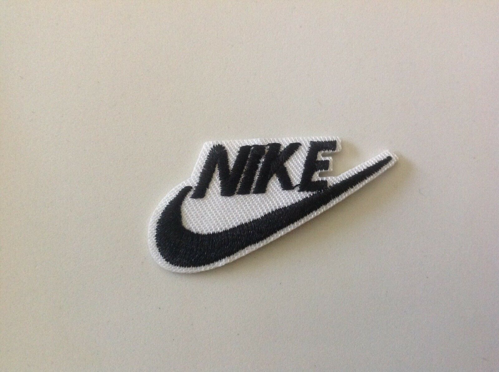 """2/"""" X 1/"""" Nike Black Logo DIY Iron On Embroidered Replacement Applique Patch"""