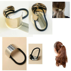 Ponytail-Ring-Hair-Cuff-Elastic-Band-Cover-Rope-Holder-Women-Tie-Hairband-Ties