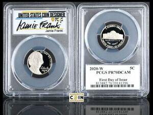 Jamie Franki Signature 2020-W Jefferson Nickel Reverse PR70 First Strike PCGS
