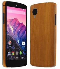 Skinomi Light Wood Full Body Skin+Screen Protector Cover for Google Nexus 5