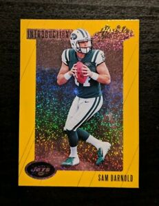 2018 Absolute Introductions Spectrum Gold Sam Darnold Rookie Card NY Jets