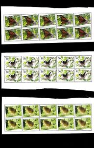 Wholesale Lot Butterflies. Tonga-Niuafo'ou 9 of 12 Values Imperf. x 6 Cat.233.70