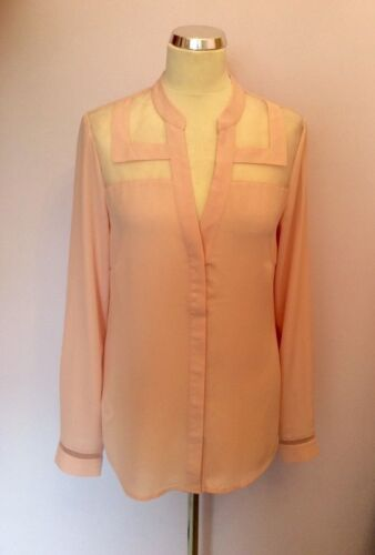 Pink 12 Sheer Light Sleeve Trim Tall Long Size Blouse Sally q1HzxtvU