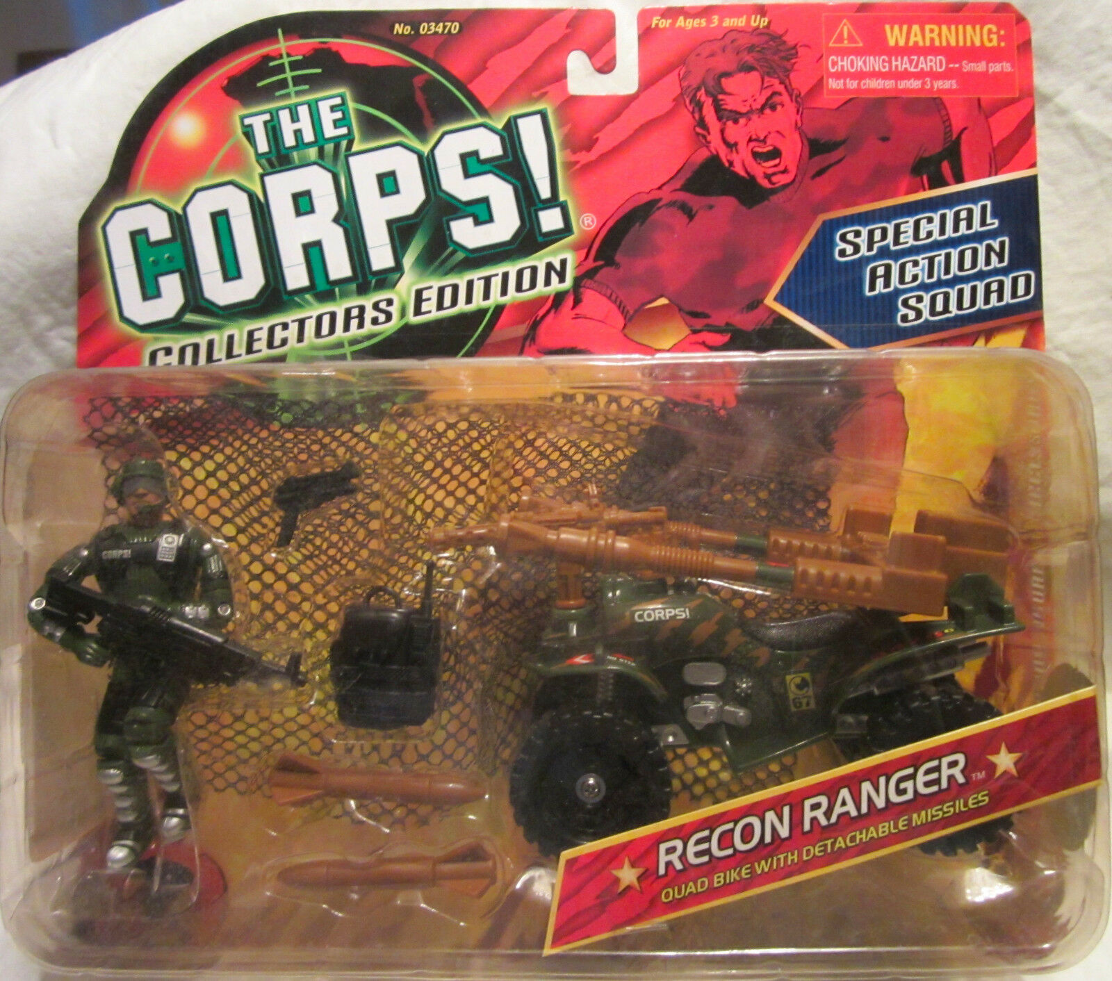 The CORPS CORPS CORPS Special Action Squad RECON RANGER w Detachable Missiles Lanard MOC af6f5d