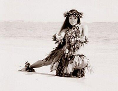 "Kim Taylor Reece ""E Komo Mai"" 11 X 14 Double Matted Hawaiian Hula Print - New"