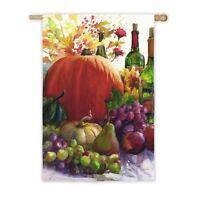 Pumpkin & Wine Harvest Thanksgiving Home Restaurant Business Lg Flag