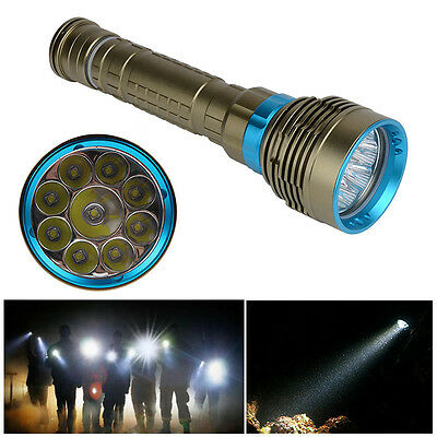 Underwater 100m 20000Lm 9x  XM-L2 LED SCUBA Diving Flashlight Torch Lamp NEW