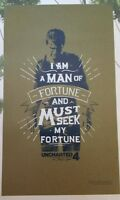 Uncharted 4 Nathan Drake Fortune Exclusive Poster Loot Crate Sony Playstation
