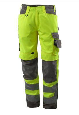 Mascotte Kendal Girovita 46 X 32 Gamba Uomo Misurata Ad Alta Vis Pantaloni Da Lavoro Giallo Nuovo-mostra Il Titolo Originale Bianchezza Pura