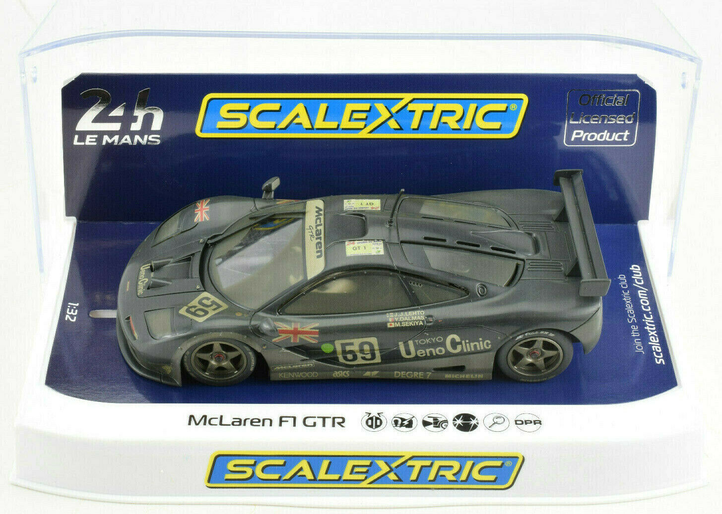 Scalextric resistido McLaren F1 GTR  59 desarrollado con luces 1 32 escala Slot Coche C4103