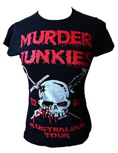 The-Murder-Junkies-2010-Australian-Tour-Fitted-T-Shirt-Medium-G-G-Allen-Punk