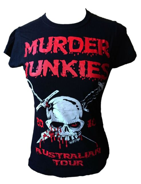 The Murder Junkies 2010 Australian Tour Fitted T-Shirt. Medium. G.G Allen. Punk