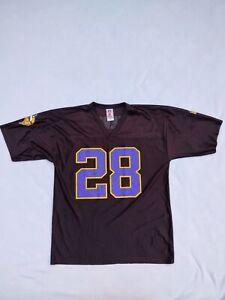 Details about Vintage Minnesota Vikings #28 Adrian Peterson Black Jersey Size L