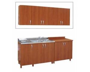 Dettagli su Pensili cm 30-40-60-80 angolo h 70  ciliegio-ciliegio/panna-bianco mobili cucina