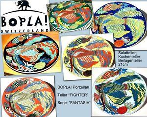 FIGHTER-BOPLA-Fantasia-Porzellan-21cm-Beilagenteller-Kuchenteller-Salatteller