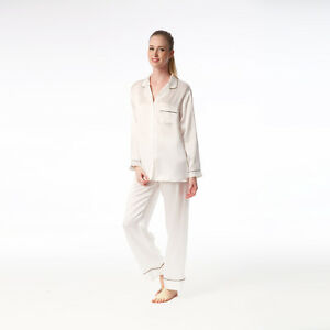 Jasmine-Silk-Femmes-039-Pure-Soie-Pyjama