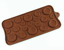 BUTTONS Chocolate Candy Silicone Bakeware Mould Sugarpaste Cake Sweets Mold Pan