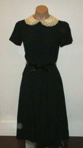authentic 1950s vintage CARLYE black cotton/linen