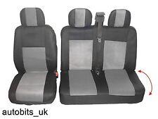 2 +1 gris suave y confort de asiento de tela cubre Para Volkswagen Transporter T5 En Bolsa