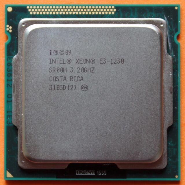 Intel Xeon Processor E3-1230 4-core 8-thread 3.20 GHz SR00H PGA1155