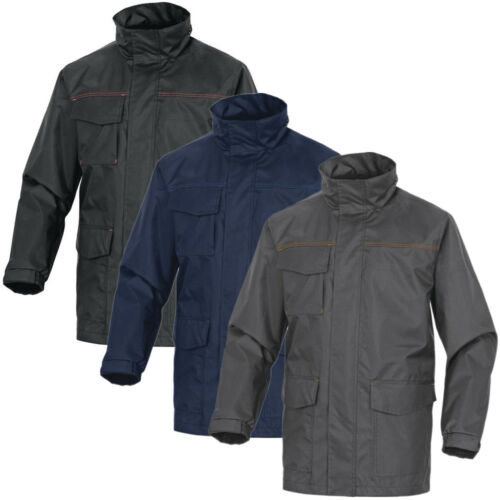 Delta Plus Sligo Mens Waterproof Lightweight Parka Jacket Work Coat Wear Hooded