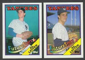 1988-Topps-Al-Leiter-New-York-Yankees-Rare-Error-amp-Corrected-Rookie-Card-18-Lot