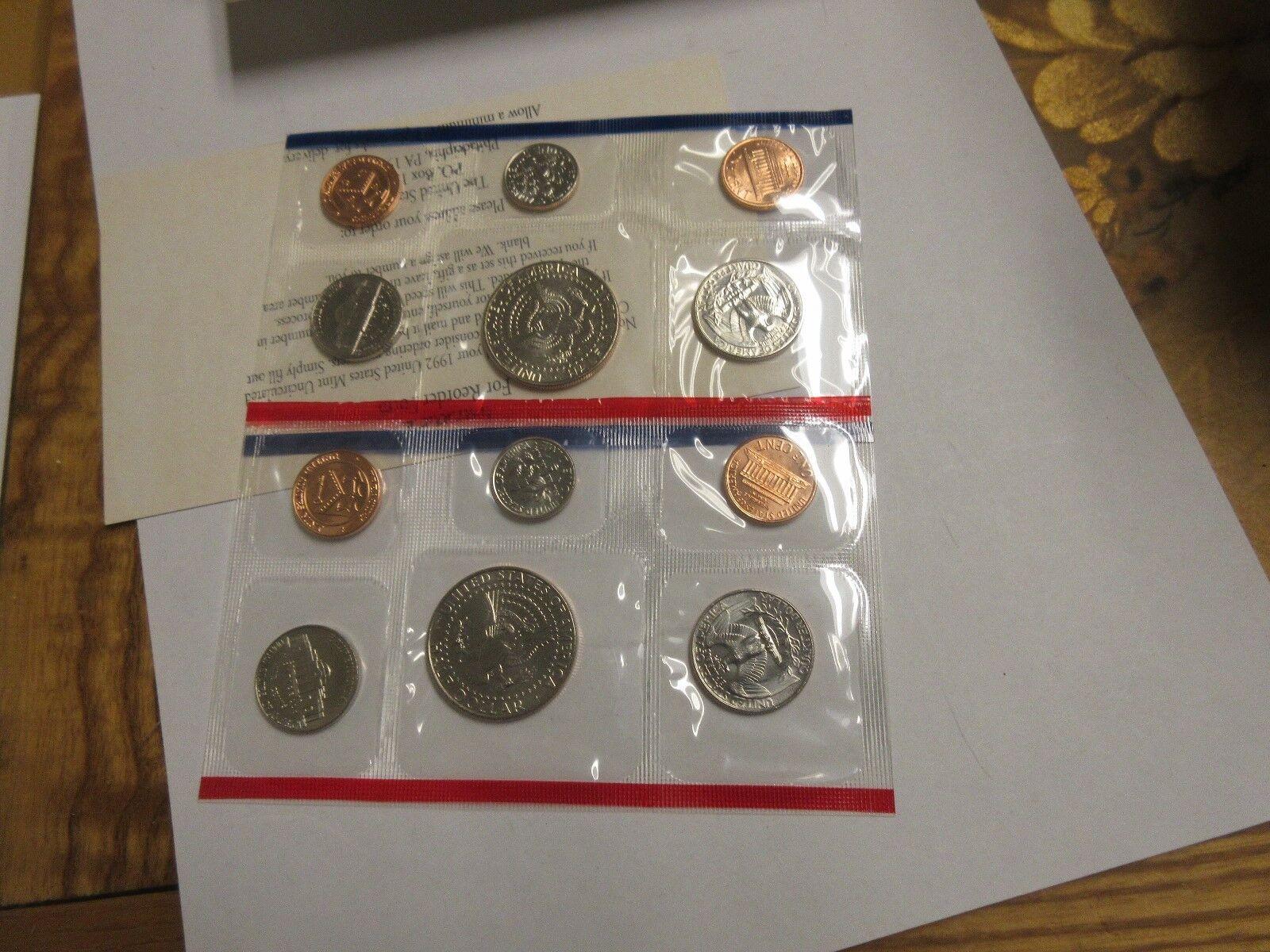 1992 , U.S. Mint Uncirculated Coin Set , Lot of 5 , NIB