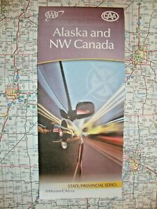 Canada Road Map Book ALASKA STATE MAP & NW CANADA Road Street Map Roadmap Travel Guide