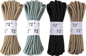 Nylon-Military-72-034-Long-Boot-Shoe-Laces-Plastic-Tipped-3-Pack