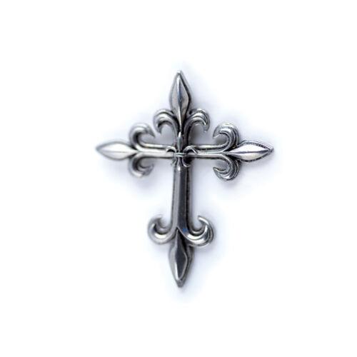 Fabrication Française Pendentif Croix Fleur de Lys
