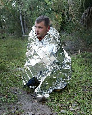 Rigoroso Ust All Weather Survival Emergency Foil Blanket First Aid Bushcraft Edc