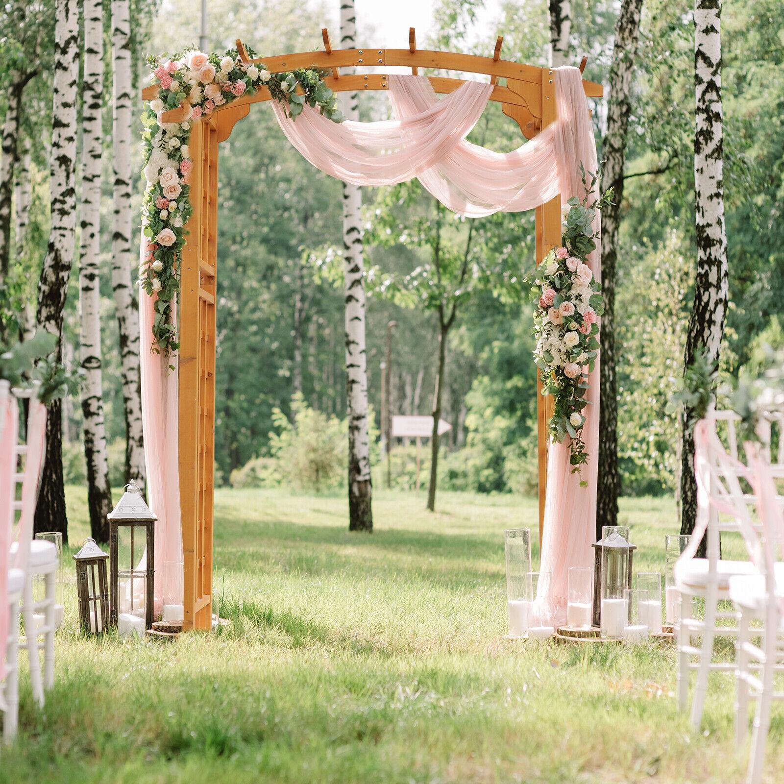 "Outsunny 82/"" Decorative Metal Garden Trellis Arch for Backyard Celebrations Black"