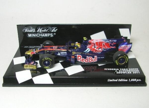Tgold red No. 19 J.Alguersuari Formula 1 Showcar 2011
