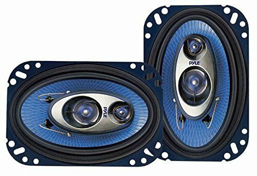 Car Speakers 4 x 6 inch Stereo 240 Watt 3 Way Full Loud Range Blue Pyle PL463BL
