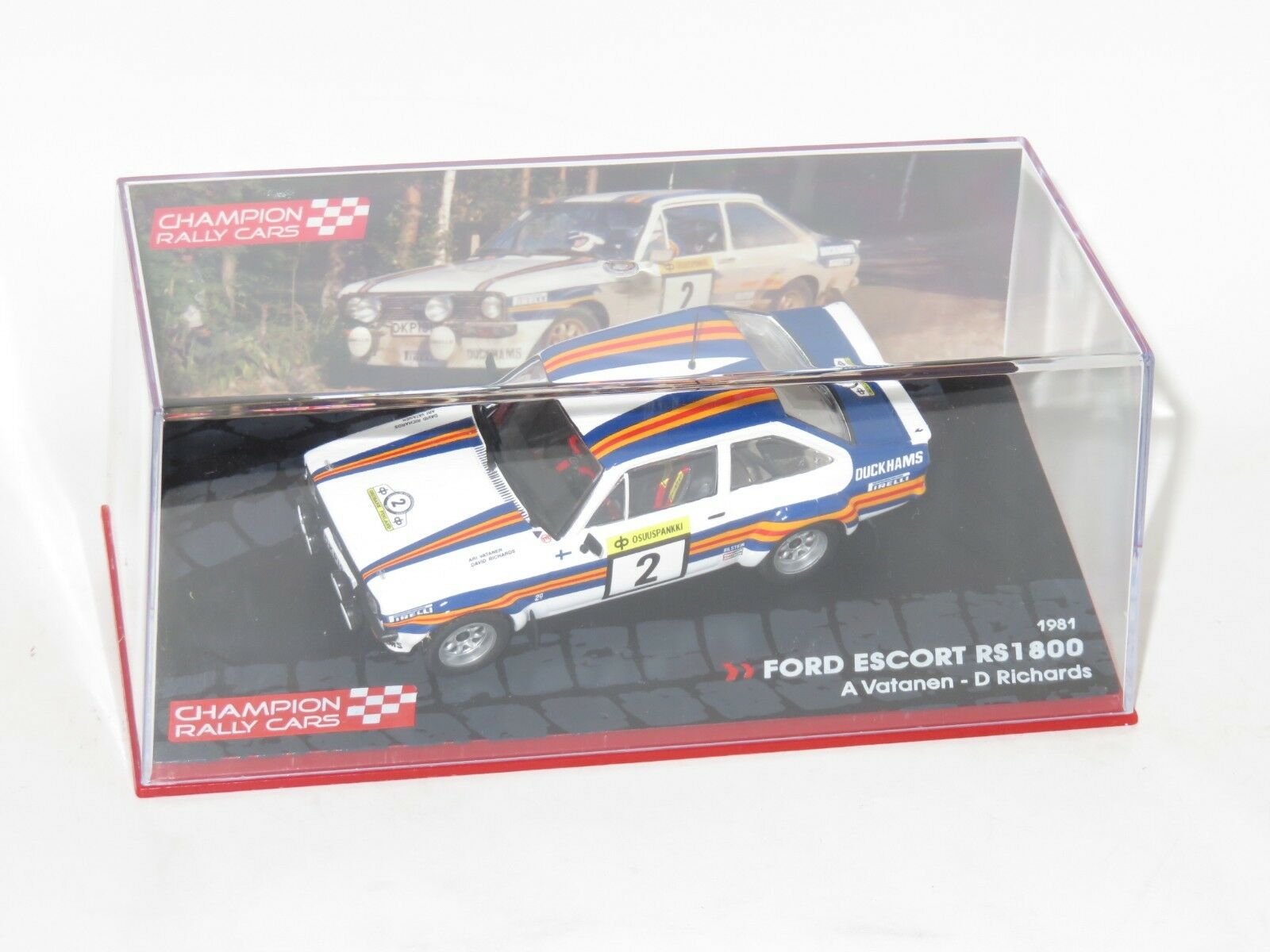 1 43 Ford Escort Mk2 RS1800  Rally 1000 Lakes Finland 1981  A.Vatanen