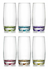 6 pcs Set ArtCraft Multicoloured Highball Water Juice Cocktail Glass 370cc Boxed