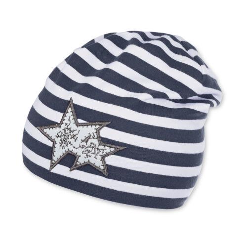 Sterntaler Slouch Beanie Jerseymütze Übergangsmütze gestreift UV-Schutz 50+