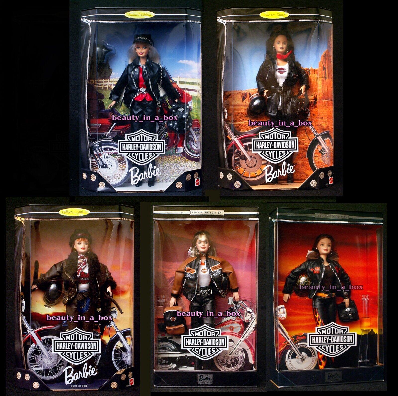 Harley Davidson Barbie Muñeca llamas Biker Lote 5