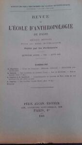 Rivista SCUOLA Antropologia 15 Eme Anni 1905 F.Alcan N° VIII ABE