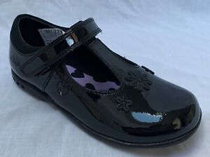 Clarks TRIXI SPICE PURPLE Girls Pat Leather /'Lights/' Shoes 7-9 EGH NEW BOXED