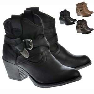 Girls Rider Western Satire Dog Rocket Fabric Ankle Black Boots Cowboy Ladies IafPxwqa