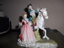 Vintage Nostalgia Ceramic biscuit Porcelain Figurine German French Dresden
